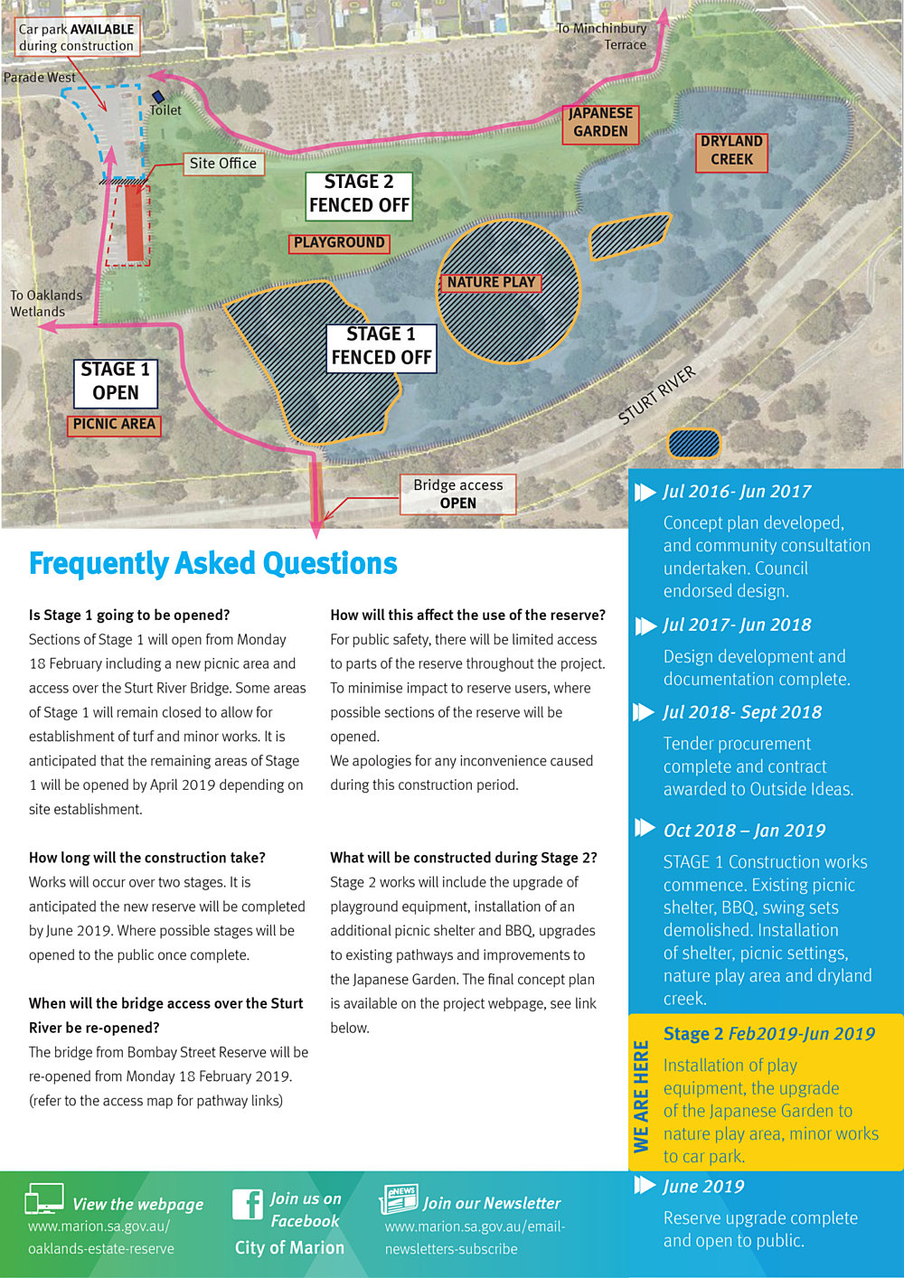 Oaklands Estate Reserve Construction Update Issue 3 February 2019 Pg2