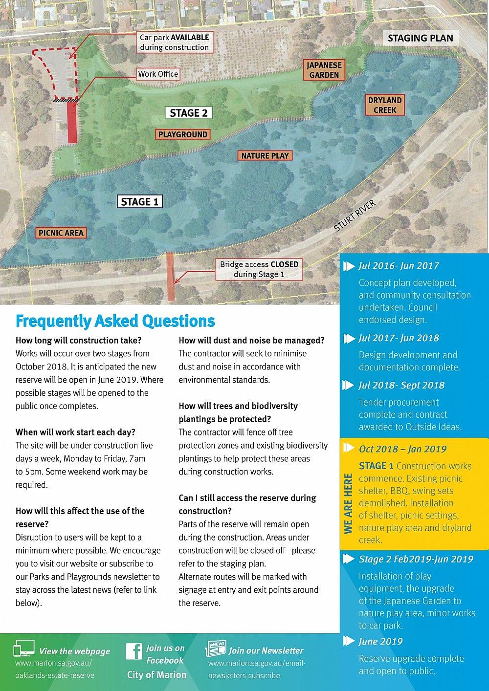 Oaklands Reserve   Oaklands Estate Reserve   Notice Of Works   October 2018 (Page 2/2)