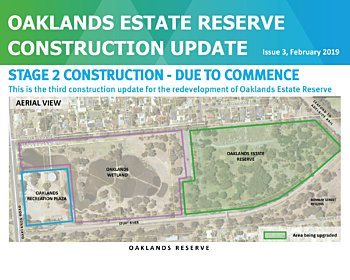 Oaklands Estate Reserve Construction Update Issue 3 February 2019 8X10