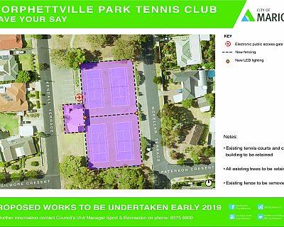 Mckellar Terrace Reserve Morphettville Park Tennis Club Notice Of Works September 2018