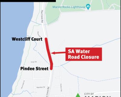 The Cove Road SA Water Road Closure