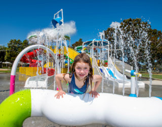 Marion outdoor pool splash park