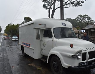 Sapol Vintage Bedford Prison Van At Cells And Celebrations Mt  Pleasant 15 April 2018  2