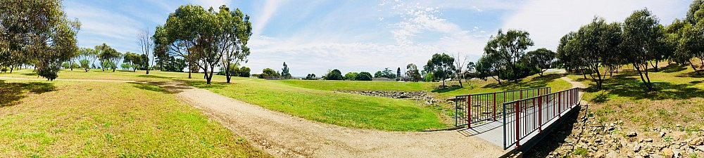 Mostyn Road Reserve Panorama Swale 2