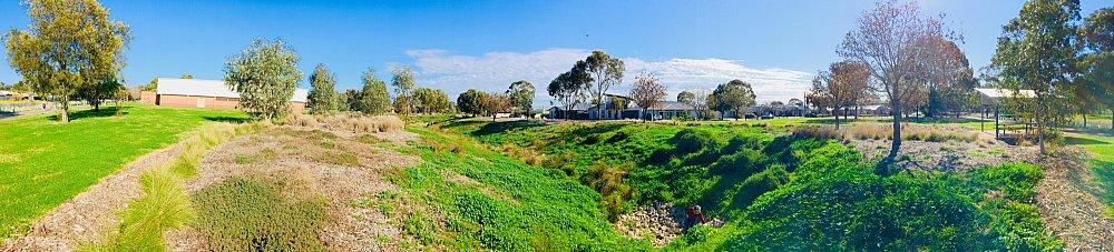 Rosedale Avenue Reserve Panorama Swale 1