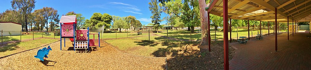 Glandore Community Centre Rugby Building Playground Panorma 2