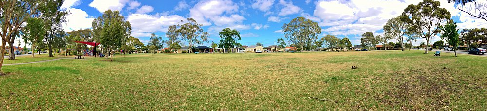 Rosslyn Street Reserve Playground Shade Panorama 3
