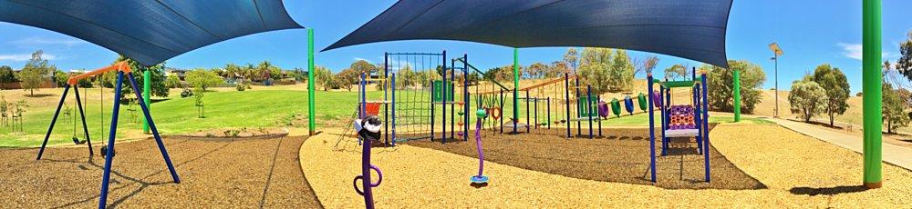 Roy Lander Reserve Playground Shade Panorama 5