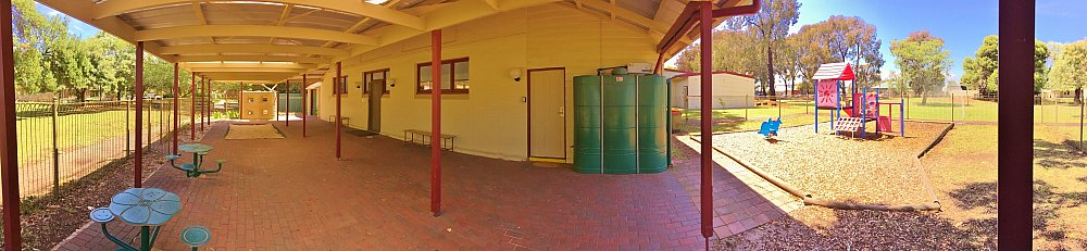 Glandore Community Centre Rugby Building Playground Panorma 1