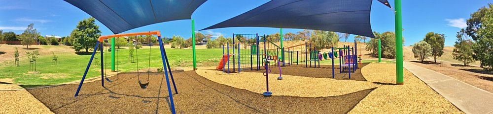 Roy Lander Reserve Playground Shade Panorama 4