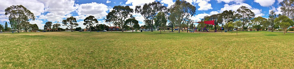 Rosslyn Street Reserve Playground Shade Panorama 2