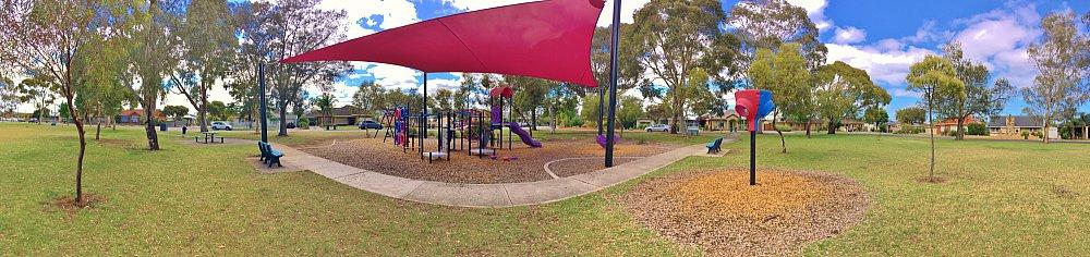 Rosslyn Street Reserve Playground Shade Panorama 1