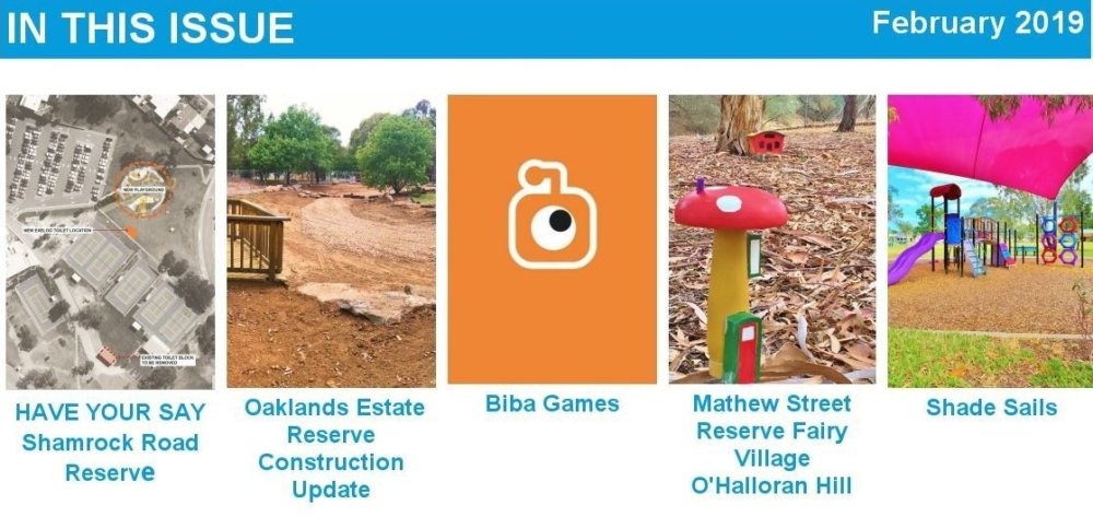 Parks And Playgrounds Newsletter February 2019 In This Issue