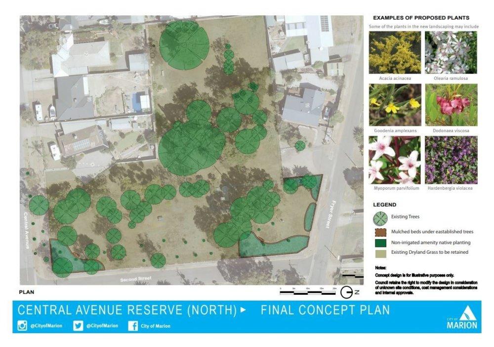 Central Avenue Reserve concept plan image 2