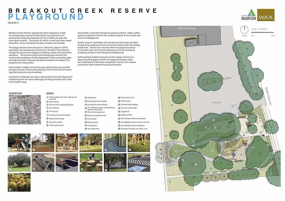 Breakout Creek Reserve Glengowrie Design