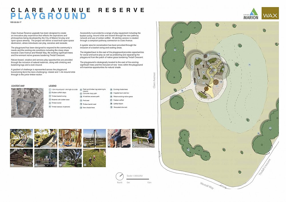 Clare Avenue Reserve Sheidow Park Design