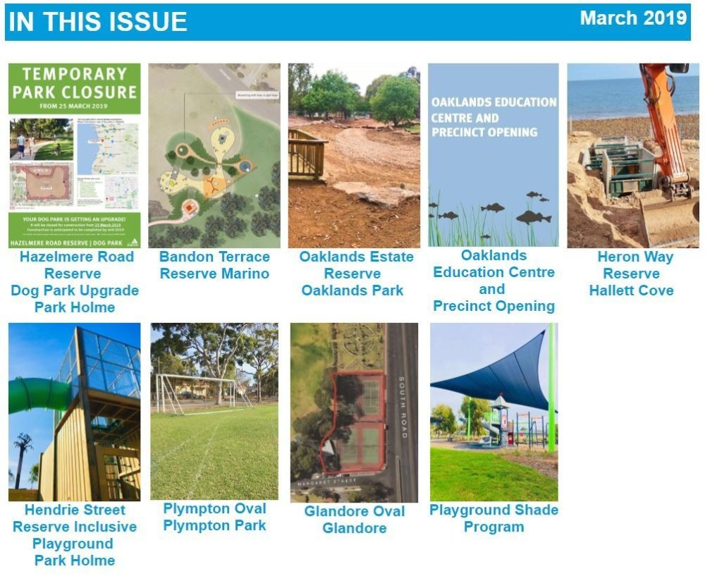Parks And Playgrounds Newsletter In This Issue March 2019