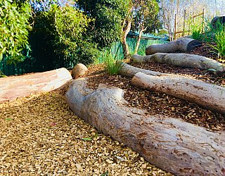 Sixth Avenue Reserve Nature Log Steps