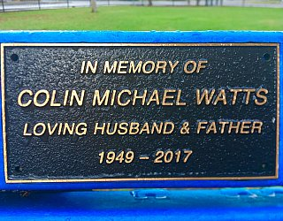 Dumbarton Avenue Reserve Memorial Colin Michael Watts
