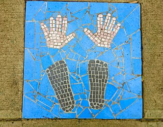 Dumbarton Avenue Reserve Public Art Hands Feet