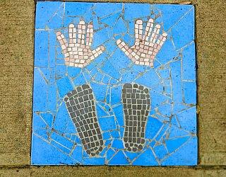 Dumbarton Avenue Reserve Public Art Hands Feet