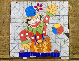 Dumbarton Avenue Reserve Public Art Clown
