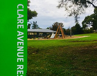 Clare Avenue Reserve Sign Portrait
