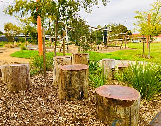 Jervois Street Reserve Senior Stepping Logs