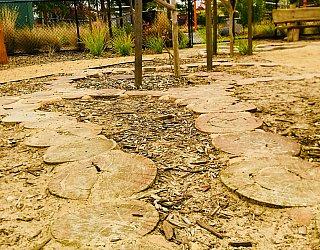 Jervois Street Reserve Junior Wooden Stepping Stones