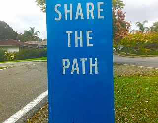Hugh Johnson Boulevard Reserve Path Signage 2