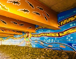 Warriparingga Wetlands Underpass Art 3