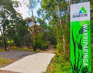 Warriparingga Wetlands Path Sign 2
