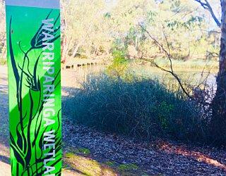 Warriparingga Wetlands Wetlands Sign