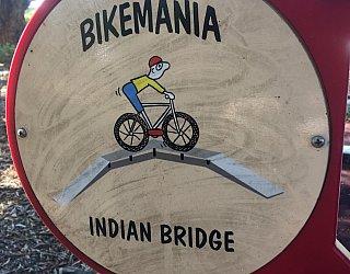Harbrow Grove Reserve Bike Mania Indian Bridge Sign