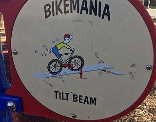 Harbrow Grove Reserve Bike Mania Tilt Beam Sign