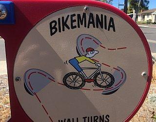 Harbrow Grove Reserve Bike Mania Wall Turns Sign