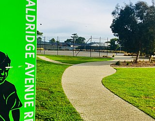 Aldridge Avenue Reserve Sign 1