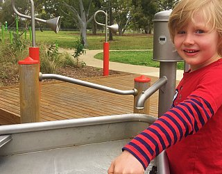 Kenton Avenue Reserve Playspace Pump Channel 2