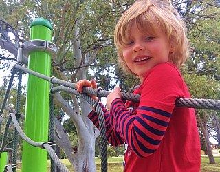 Kenton Avenue Reserve Playspace Climbing Net 3