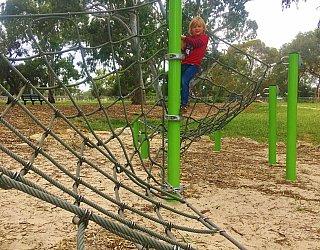 Kenton Avenue Reserve Playspace Climbing Net 2