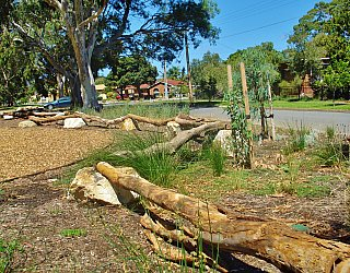 Kenton Avenue Reserve Playspace Balancing Logs