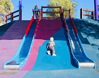 Glade Crescent Reserve Junior Playground Slides 1