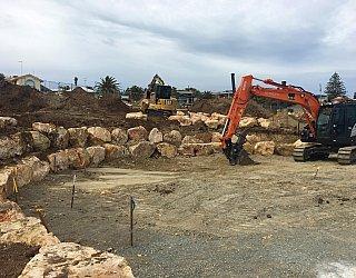 Heron Way Reserve Construction September 2018 1
