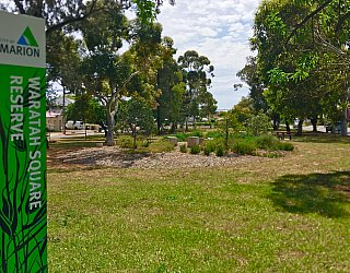 Waratah Square Reserve Sign 3