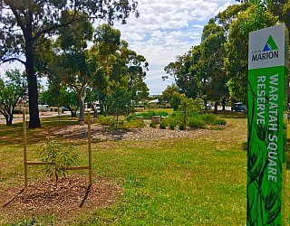Waratah Square Reserve Sign 2