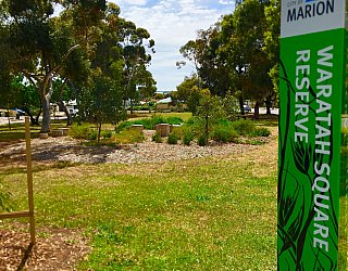 Waratah Square Reserve Sign 1