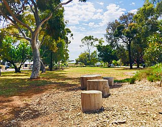 Waratah Square Reserve Stepping Logs 1