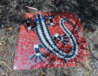 Cormorant Drive Reserve South Mosaic Lizard 1