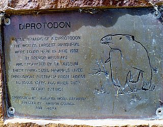 Cormorant Drive Reserve South Plaque Diprotodon 1