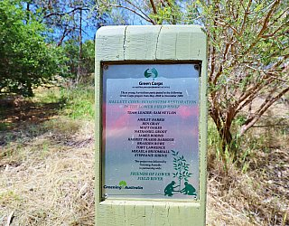 Cormorant Drive Reserve South Plaque Green Corps 2008